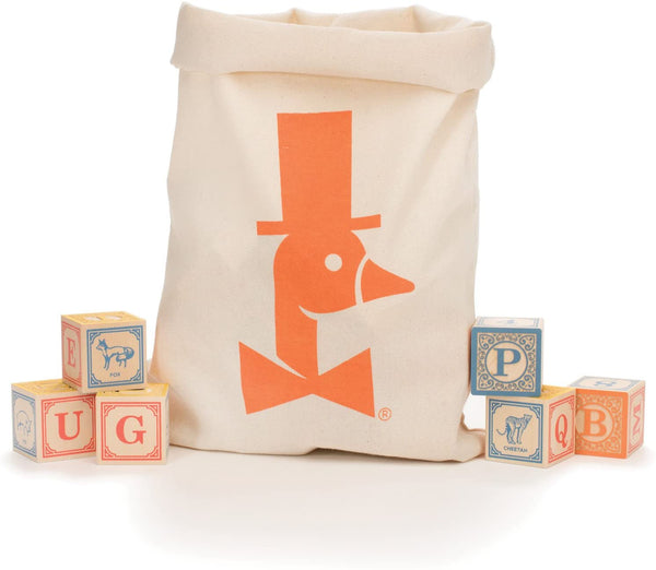 Classic ABC Blocks with Canvas Bag - Made in USA