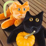 Orange Velvet cat - Handmade in CANADA