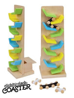 Single Clickity Clack Coaster Wood - Primary, Pastel