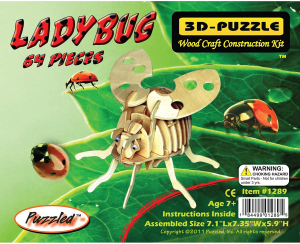 Lady Bug 3D Wooden Puzzle