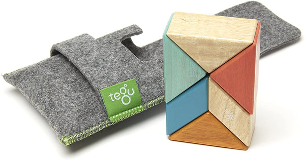 Tegu Magnetic 6-Piece Pocket Pouch Prism - Sunset