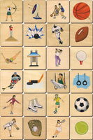 Sports, Dress Up memory tile - Made in USA