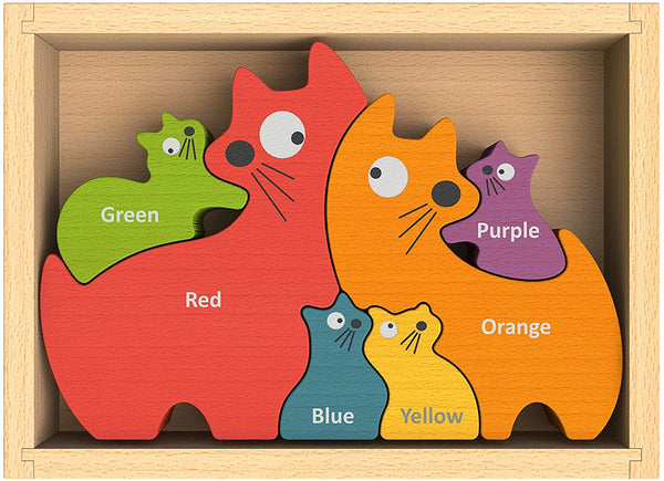 Cat Family Wooden Puzzle