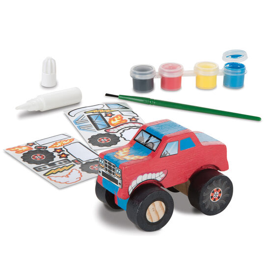 Monster Truck Wooden Craft Kit.  Created by Me!