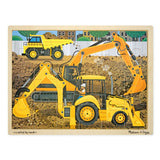 Diggers at Work Wooden Jigsaw Puzzle - 24 Pieces