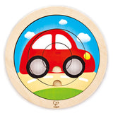 HAPE SPINNING PUZZLE -TRANSPORT , FARM