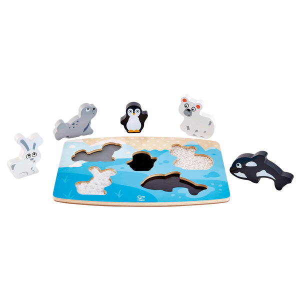 HAPE  TACTILE PUZZLE - POLAR ANIMAL, FOREST ANIMAL