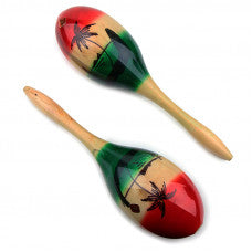 Maracas 27 cm Long Mexican Hardwood