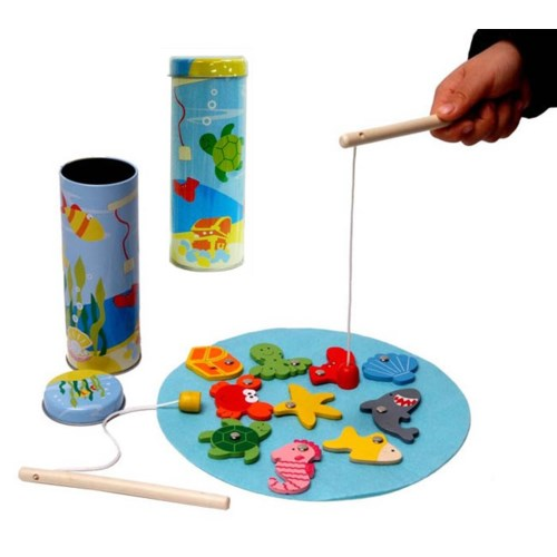 Fishing Game in Tin Container