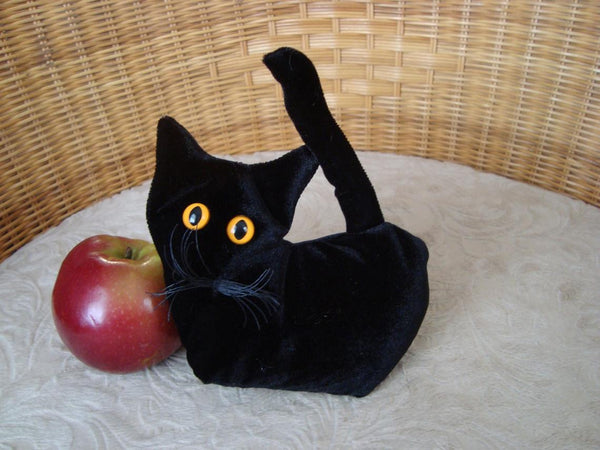 Black Velvet Kitten - Handmade in CANADA