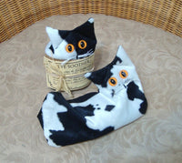 Black and White Velvet Kitten - Handmade in CANADA