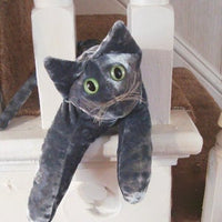 Grey Velvet Cat - Handmade in CANADA