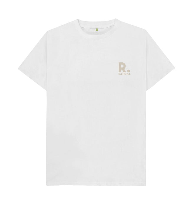 White Ration.L Organic T-Shirt White