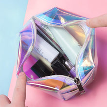 Load image into Gallery viewer, Laser Design Transparent Cosmetic Bag
