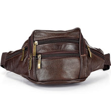 Load image into Gallery viewer, Men Genuine Leather Waist Pack