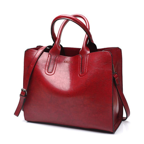 Leather Big Women Shoulder Bag