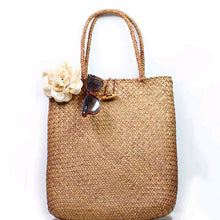 Load image into Gallery viewer, Beach Rattan Knitted Large Tote