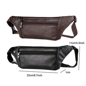 Casual Leather Waist Bag