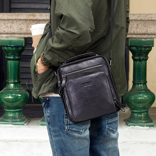 Genuine Leather Men Shoulder Bag