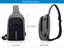Load image into Gallery viewer, USB Charge One Crossbody Bag