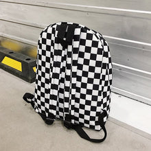 Load image into Gallery viewer, Unisex Plaid Nylon Backpack