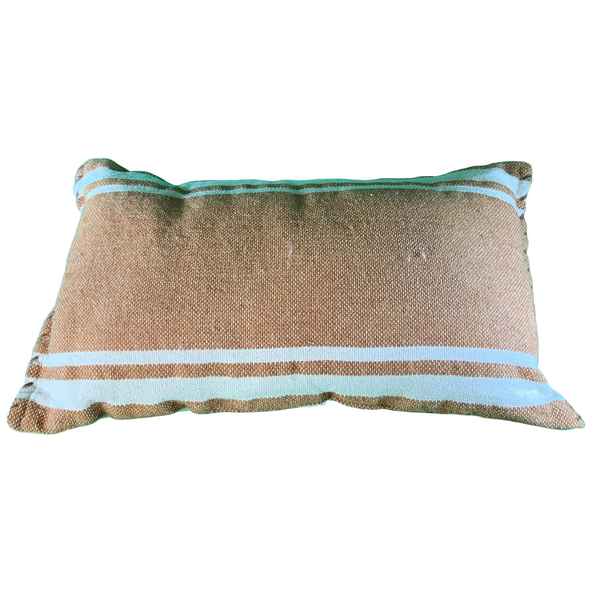 Wool/Cotton Woven Stripe Oversize Lumbar Throw Pillow With Whipstitch Trim - Threshold™