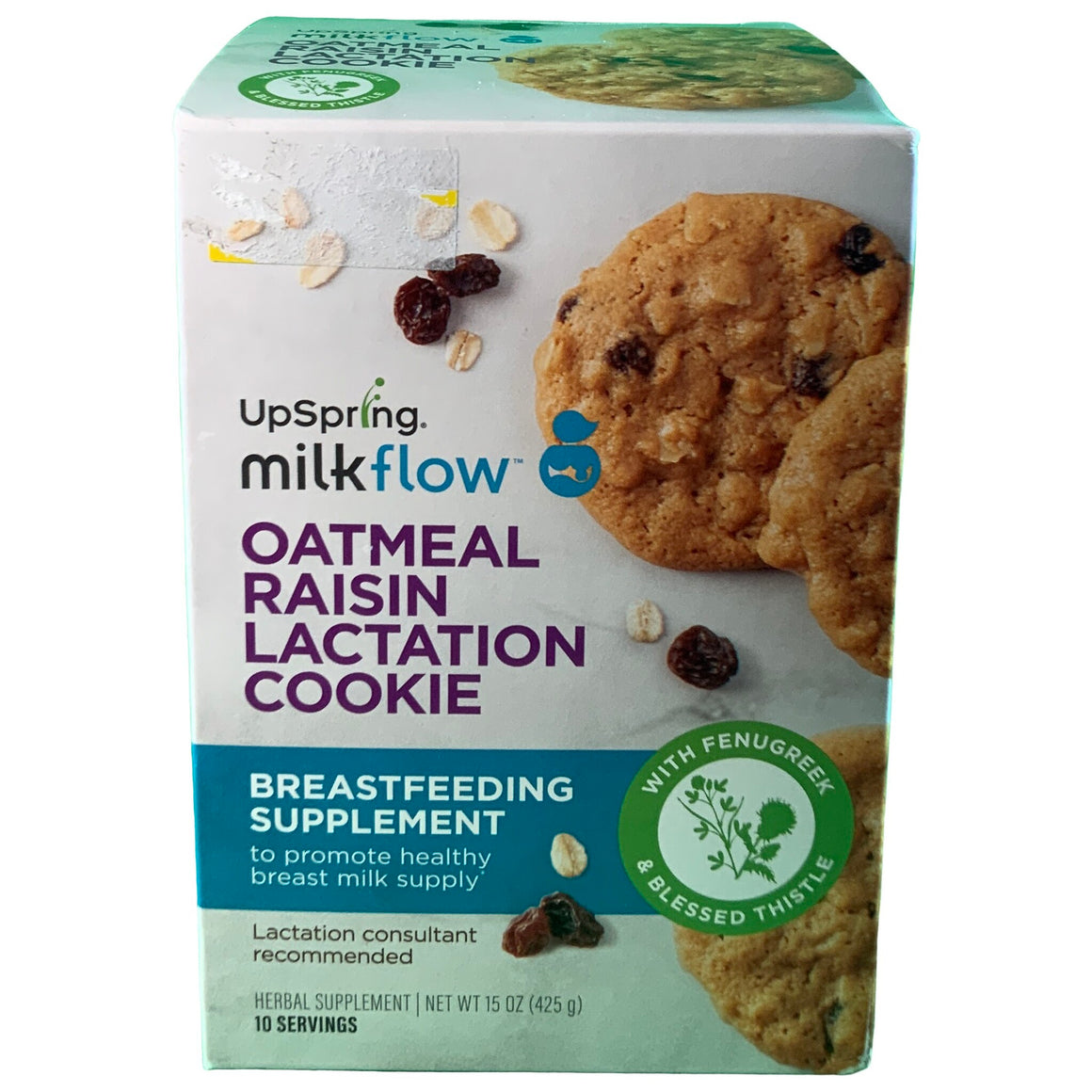 Lactation Cookies, Oatmeal Raisin Lactation Supplement, With Fenugreek And Blessed Thistle For Lactation Support - Upspring Milkflow