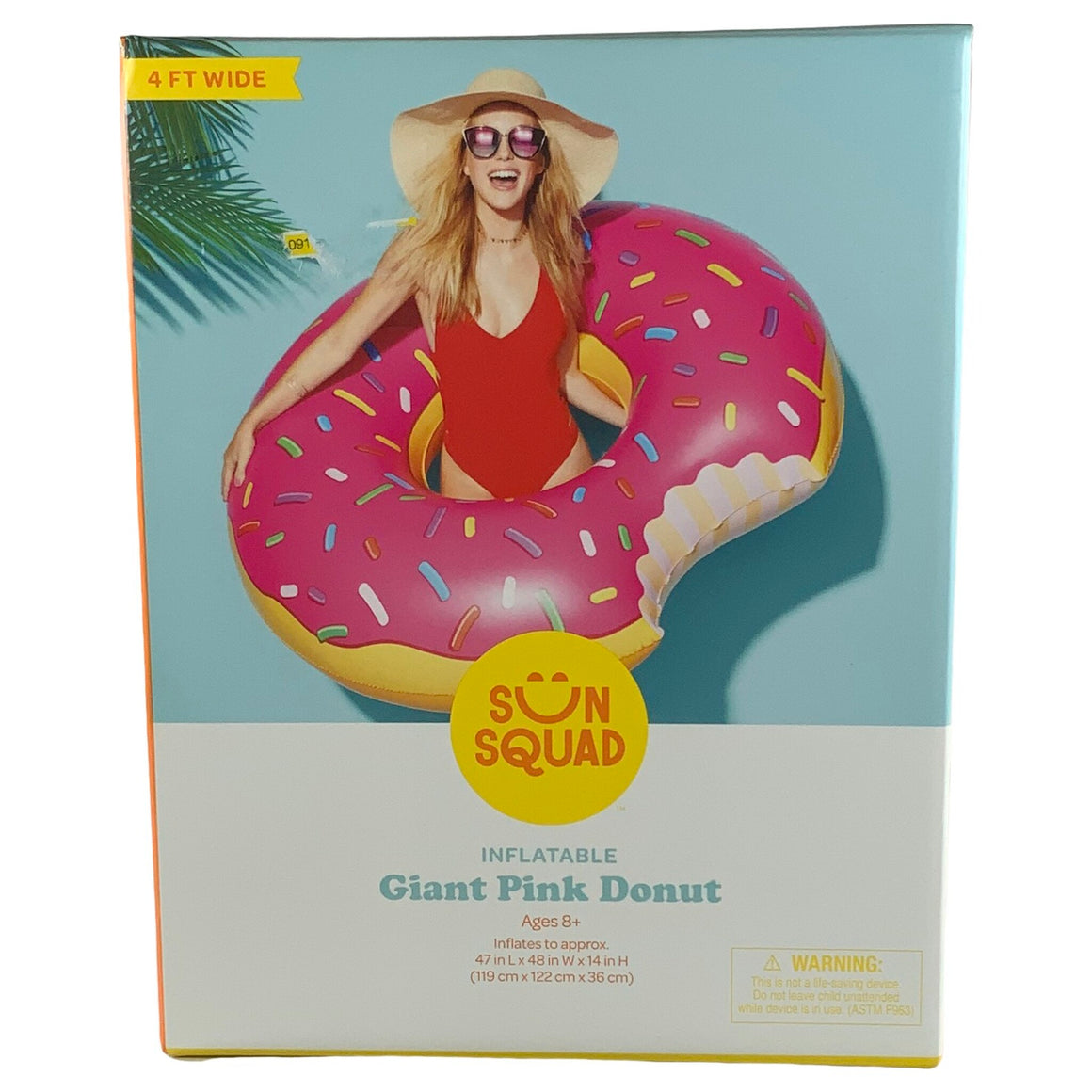 Sun Squad - Inflatable Giant Pink Donut