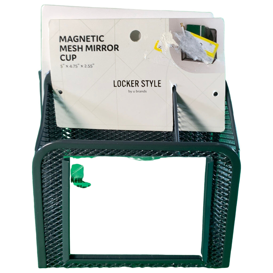 Magnetic Mesh Metal Locker Mirror Cup - Locker Style By Ubrands