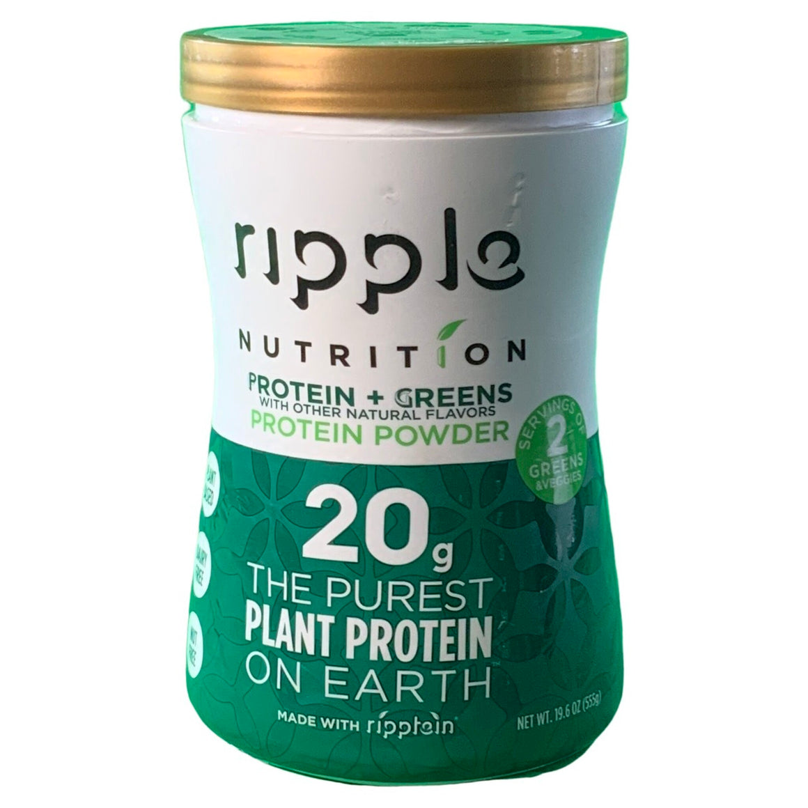 Protein + Greens Powder 19.6 Oz - Ripple Nutrition