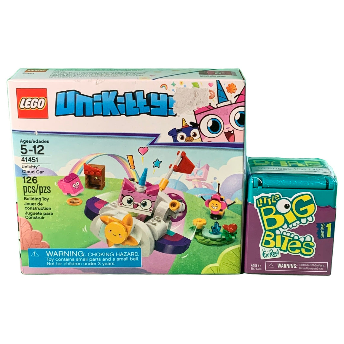 Little Big Bites, 12 To Collect, Series 1 & Unikitty Unikitty Cloud Car  - Furreal & Lego