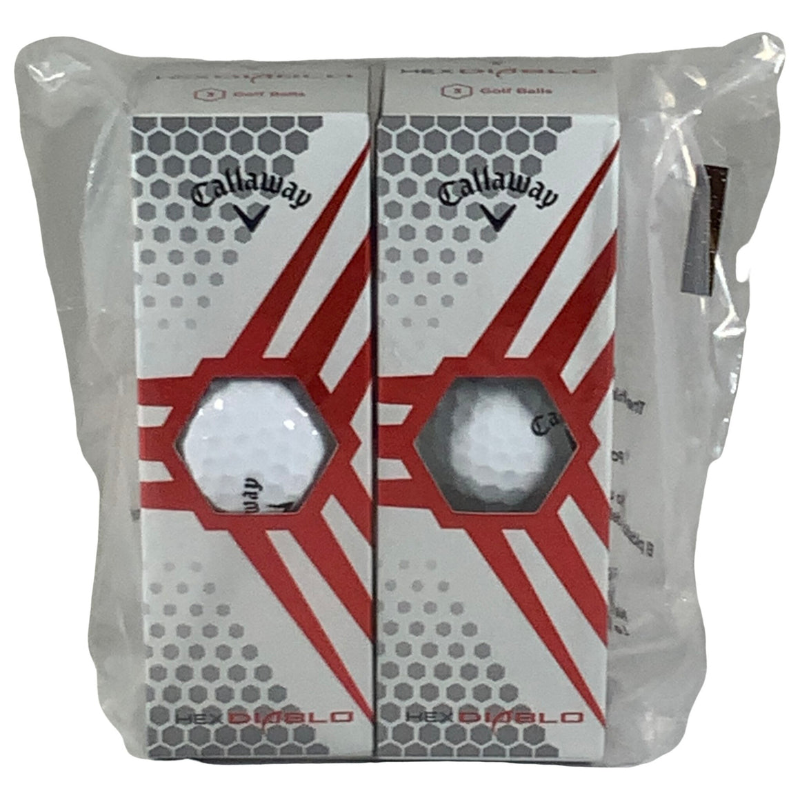 Hex Diablo Golf Balls, White - 3 Balls - 2 Packs - Callaway