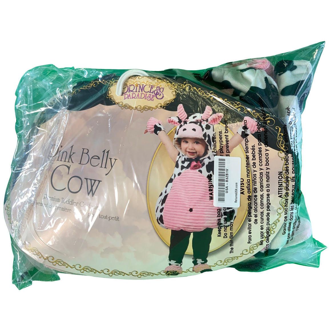 Incharacter Pink Belly Cow Infant/Toddler Costume-X-Small - Princess Paradise