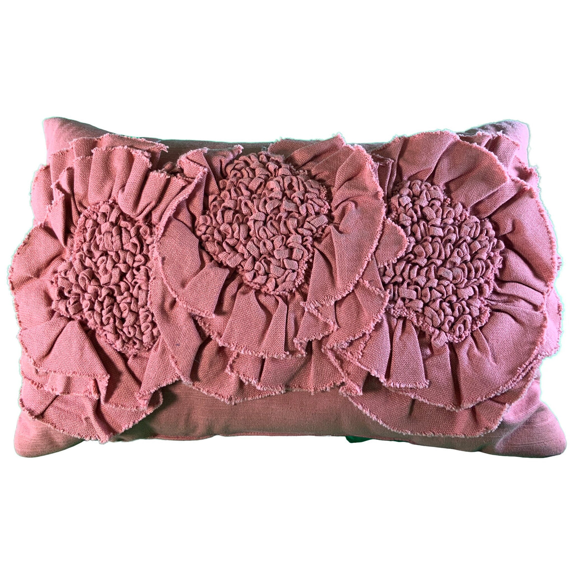 Floral Applique Rectangle Throw Pillow Rose - Opalhouse™