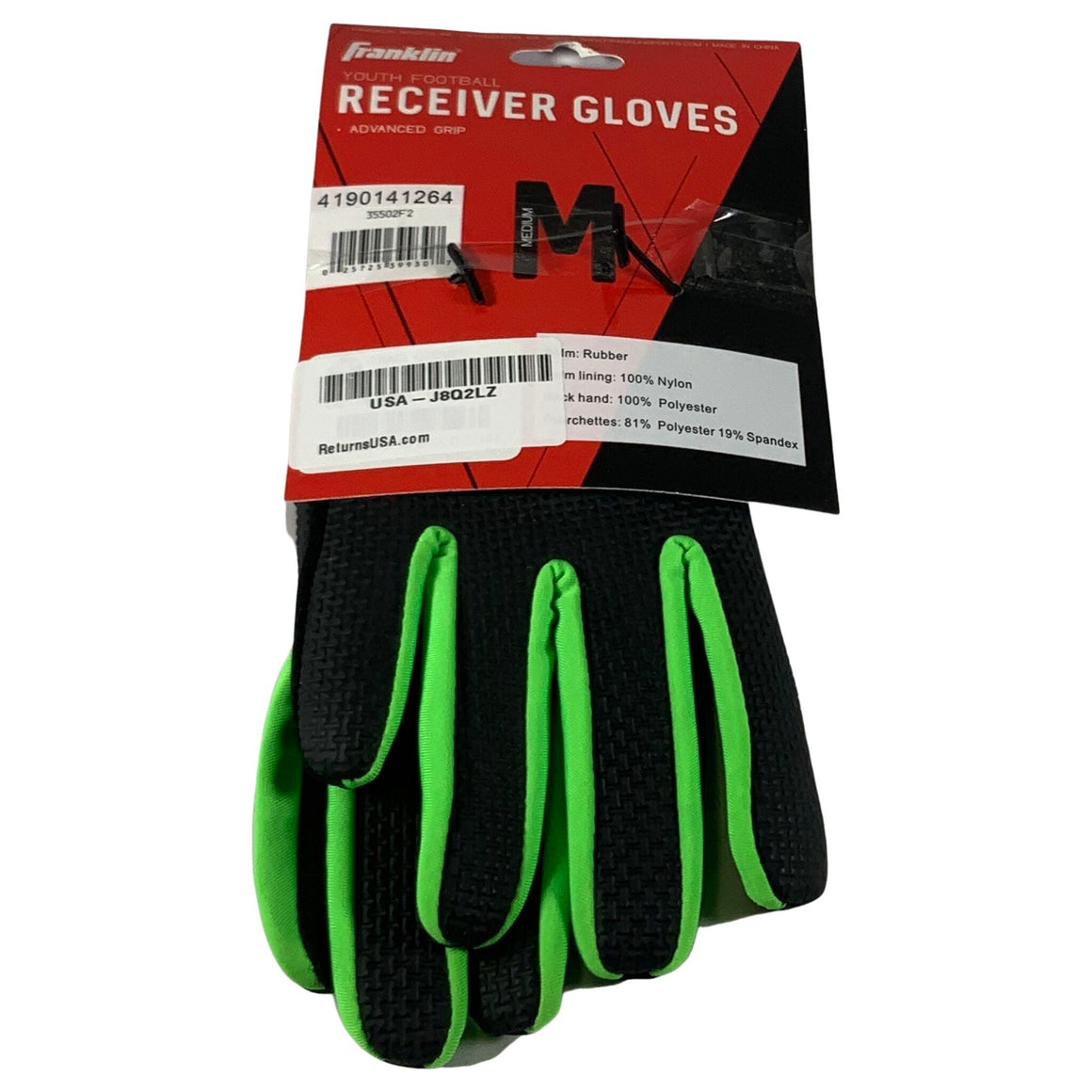 Youth Receiver Gloves - Franklin Sports