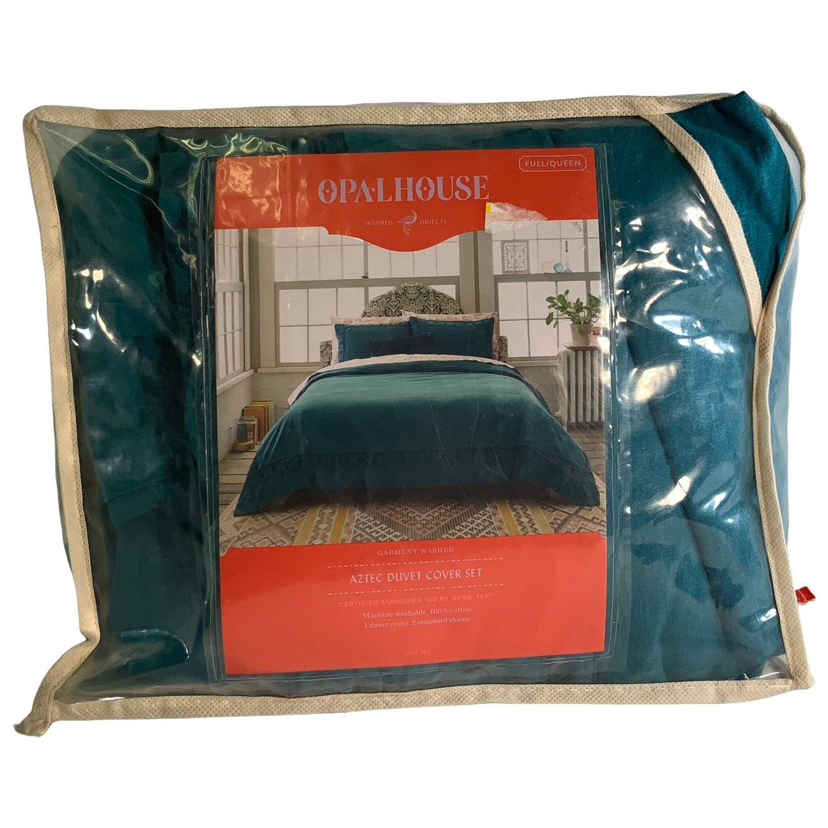 Tribal Border Garment Washed Duvet Cover Set - Opalhouse™