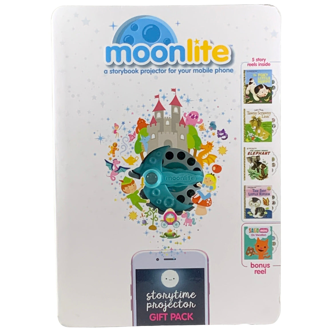 Gift Pack - Storybook Projector For Smartphones With 5 Stories - Moonlite