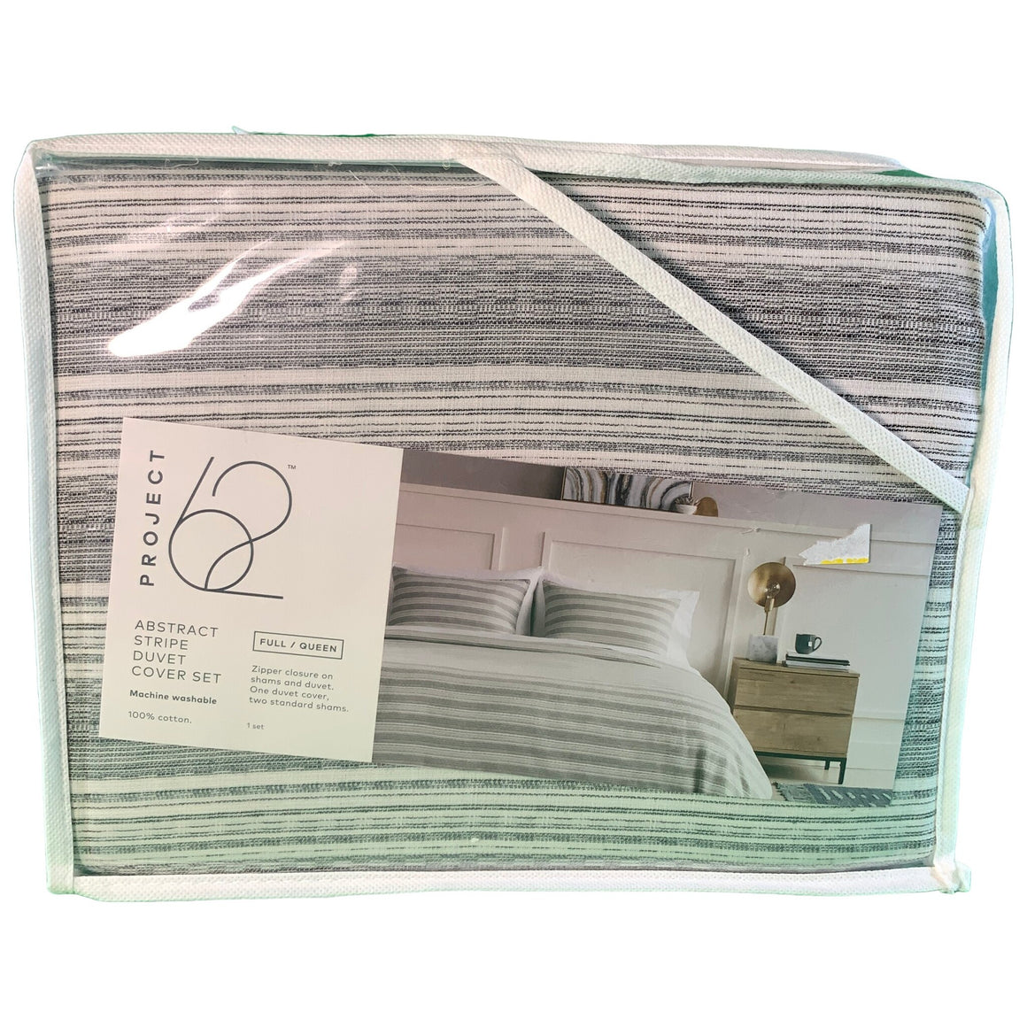 Gray Abstract Stripe Duvet Cover & Sham Set (Full/Queen) + Nate Berkus - Project 62™