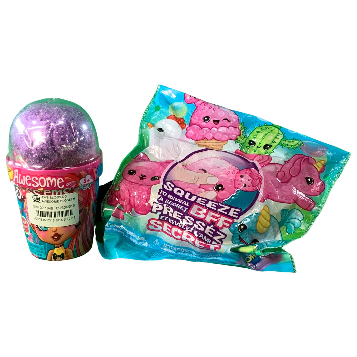 Secret Bff - Squeeze To Reveal (Original Series 1) & Magical Growing Flower - Themed Scented Collectible Doll Blind Pack -