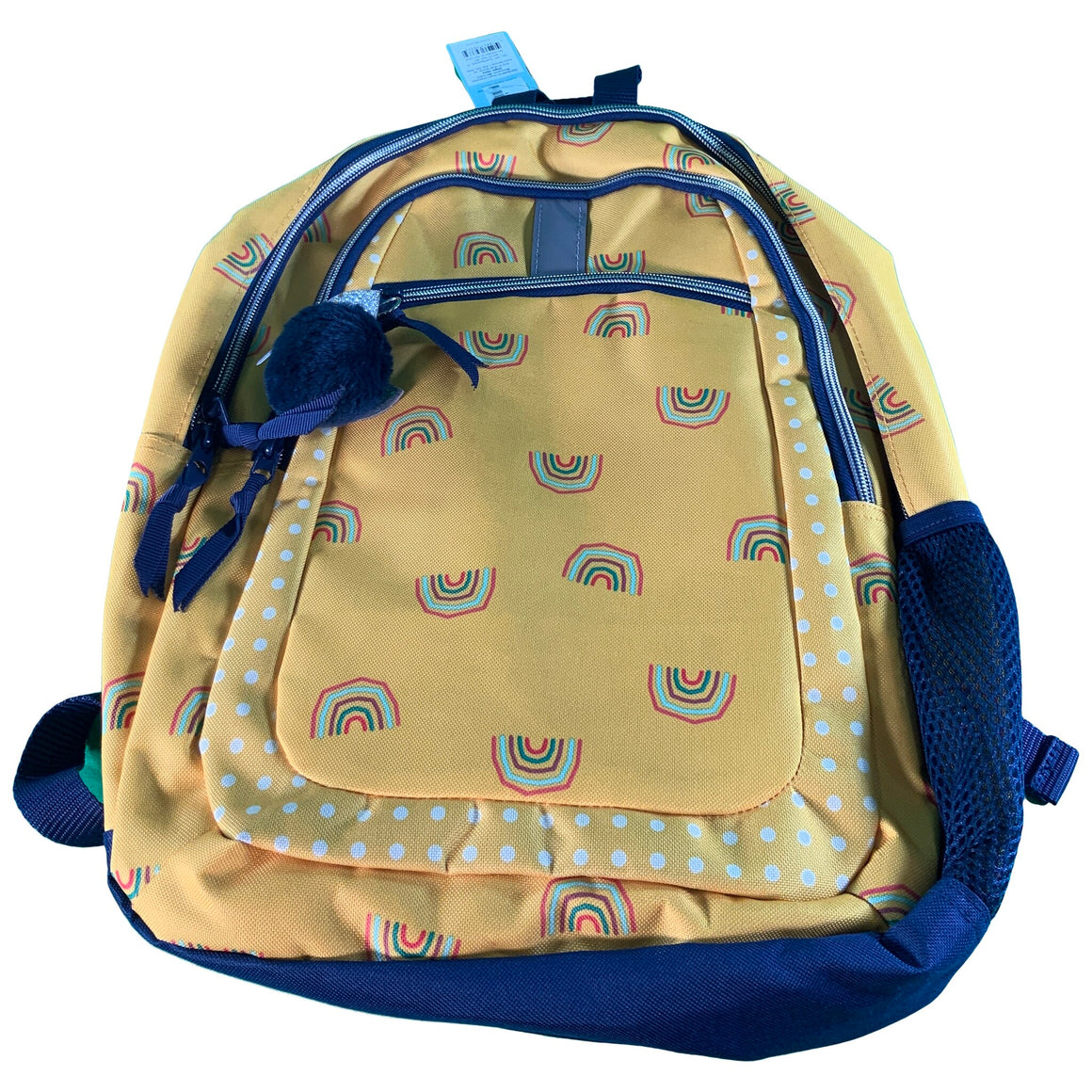"17"" Rainbow Print Kids' Backpack Yellow/Black - Cat & Jack™"