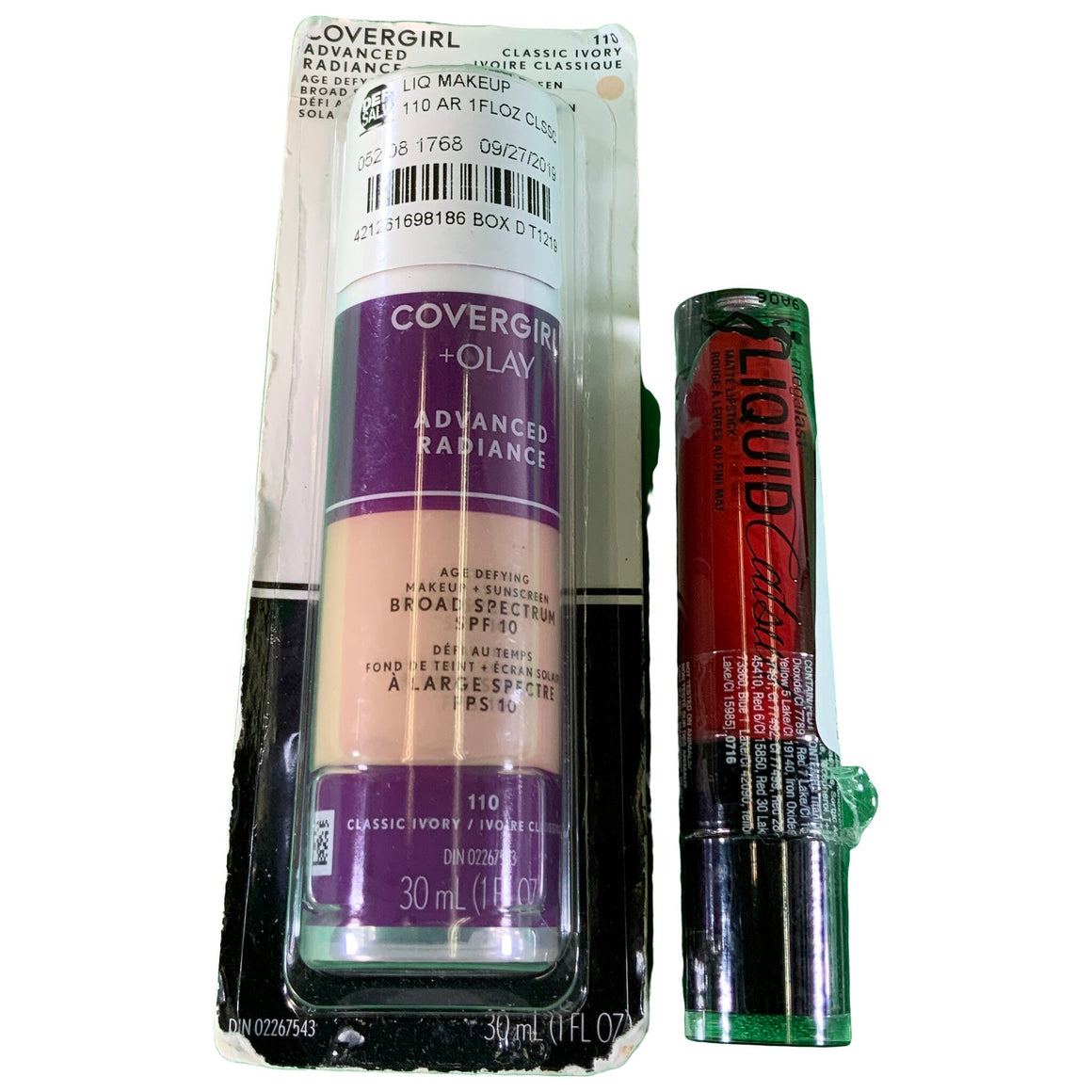 Advanced Radiance Foundation - Light Shades & Megalast Liquid Catsuit Lipstick Missy And Fierce .21 Fl Oz - Covergirl & Wet N Wild