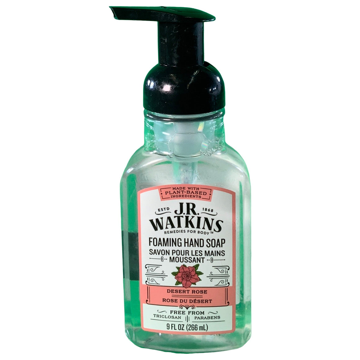 Foaming Hand Soap, Desert Rose, 9 Ounces - J.R. Watkins
