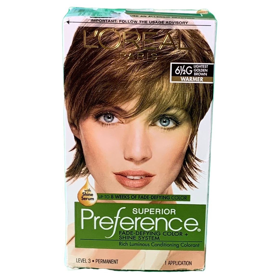 L'Oreal Paris Superior Preference Fade-Defying Color + Shine System, 6.5G Lightest Golden Brown -