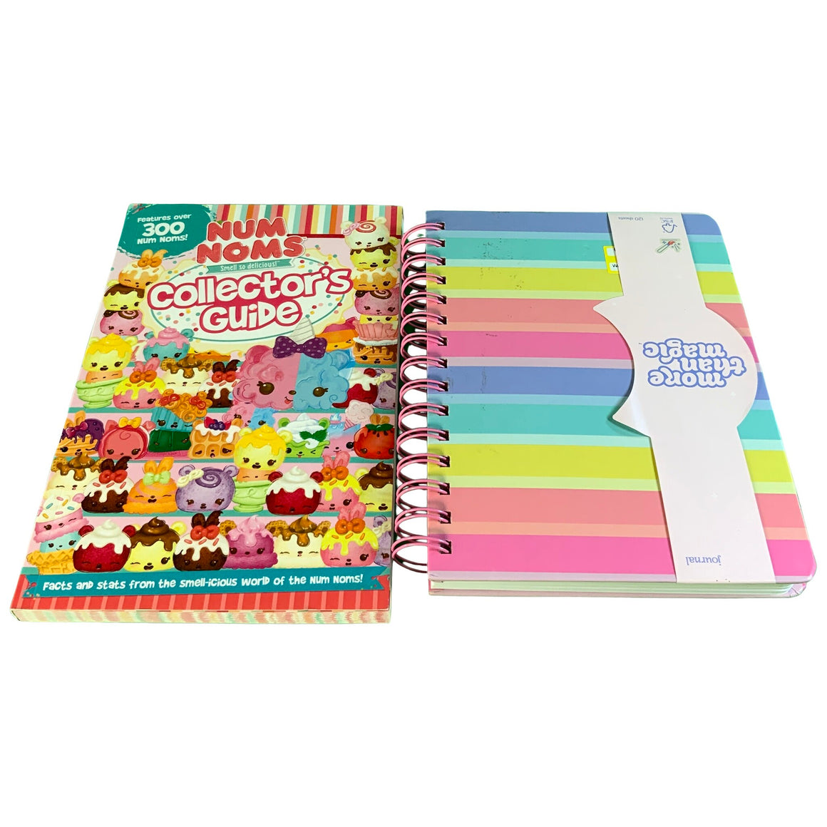 "Num Noms Collector'S Guide Paperback & 6"" X 8"" Rainbow Spiral Subject Journal  - Parragon Books & More Than Magic™"
