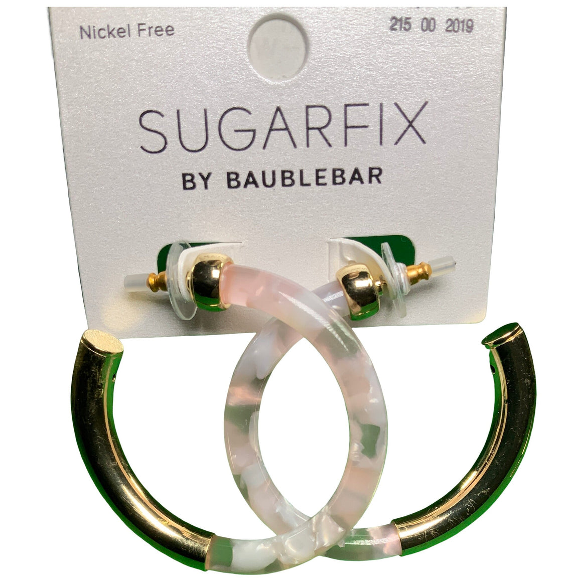 Sugarfix Clear Acrylic Hoop Earrings - Baublebar