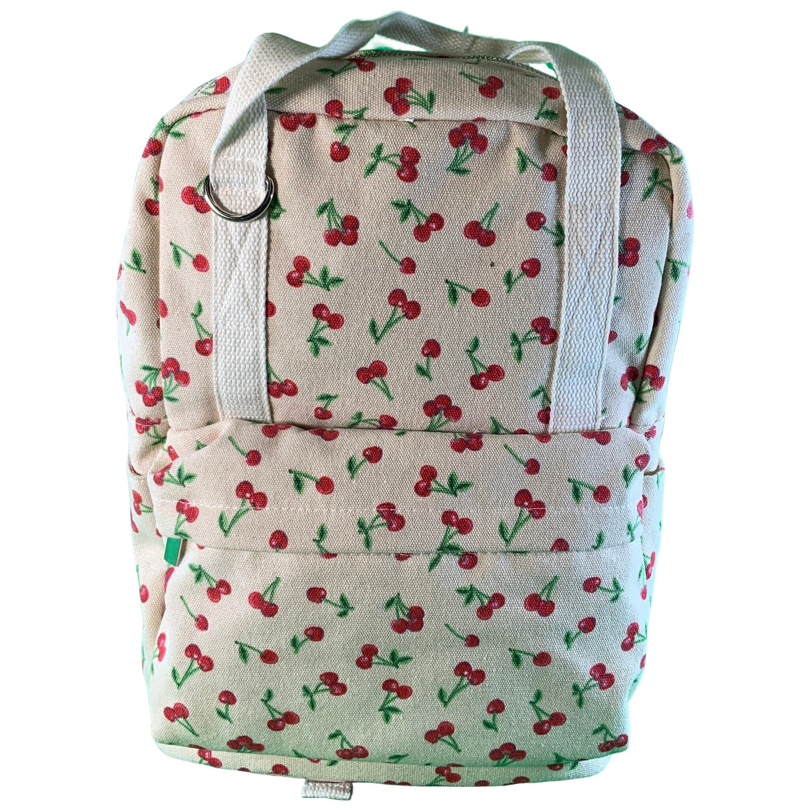 Cherry Print Canvas Square Backpack - Cream - Wild Fable™