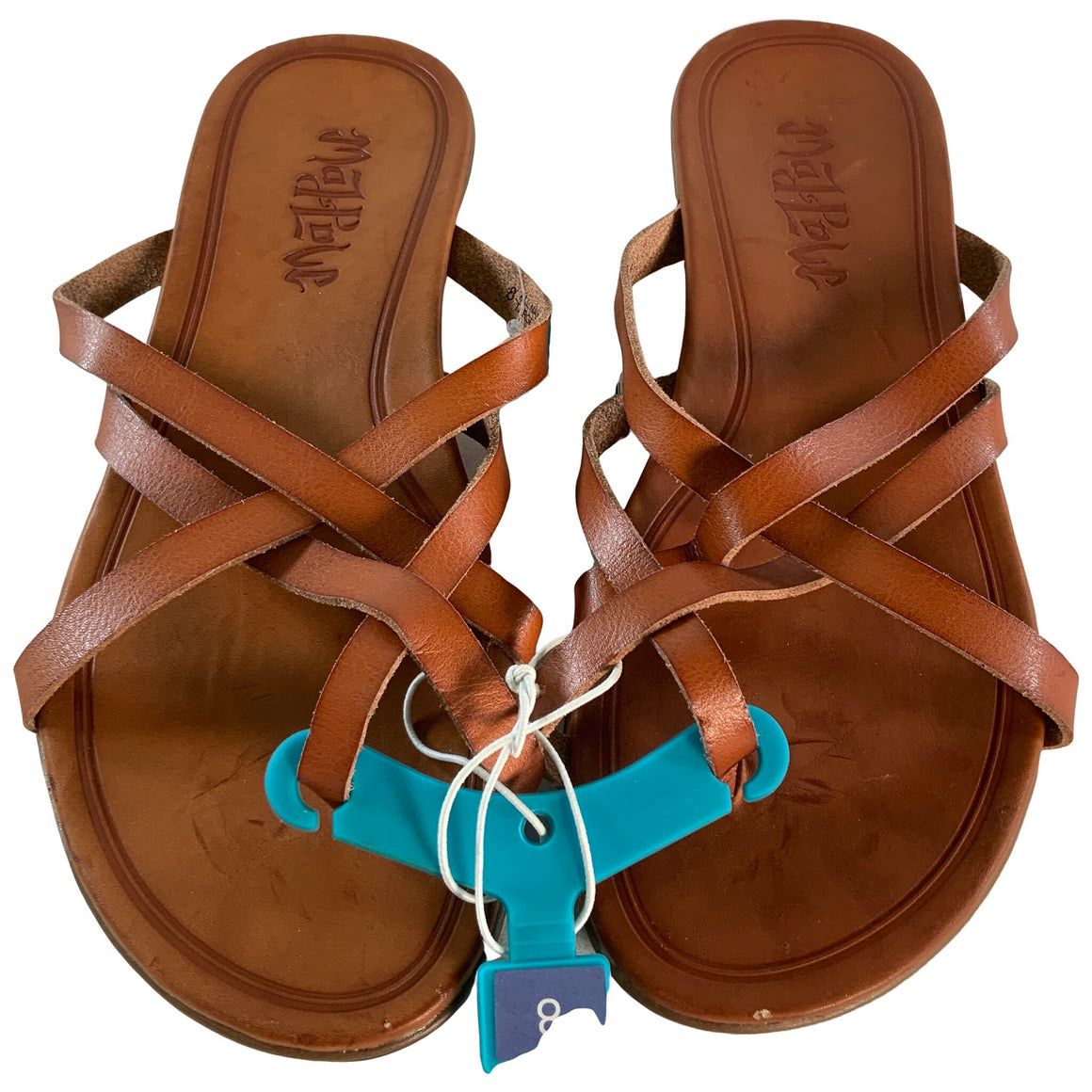 Adama Multi Strap Thong Sandals - Cognac 8 - Mad Love
