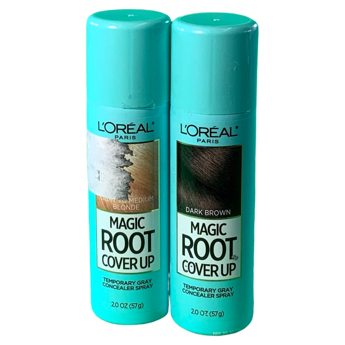 Magic Root Cover Up Gray Concealer Spray - 2.0Oz & Root Cover Up Temporary Gray Concealer Spray Dark Brown - L'Oreal Paris