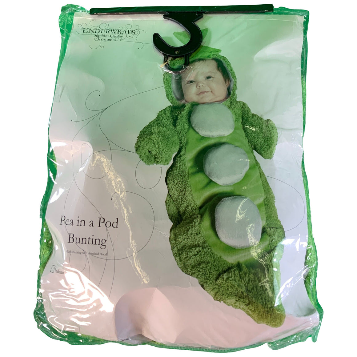 Costumes Baby'S Pea In A Pod Costume Bunting - Underwraps