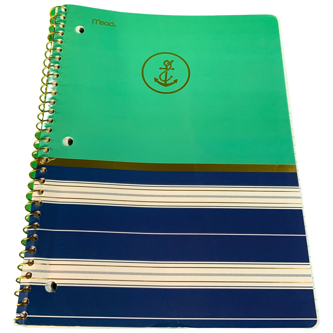 1 Subject Notebook - Anchors/Stripes - Mead